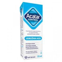 Acatar Control 0,5 mg/ml, aerozol do nosa, roztwór 15 ml alergia, katar