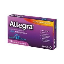 Allegra fexofenadini 120 mg alergia 10 tabletek