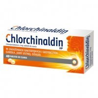 Chlorchinaldin VP, 40 tabletek do ssania