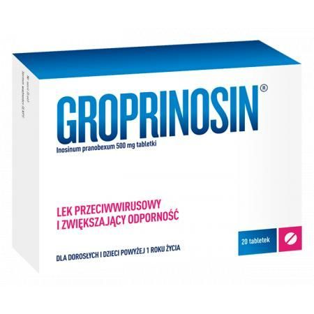 Groprinosin 500 mg, 20 tabletek