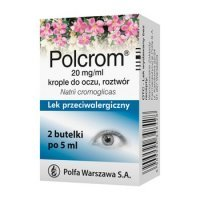 Polcrom 20 mg/ml krople do oczu 2 x 5 ml alergia